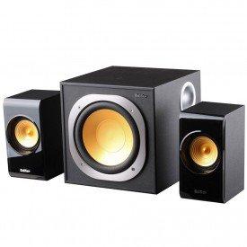 caixa de som edifier 21 bivolt 30w rms p3060b preto