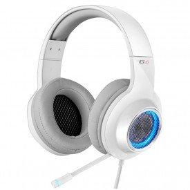 microfone fone de ouvido headphone gamer edifier g4 branco