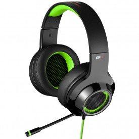 microfone fone de ouvido headphone gamer edifier g4 preto verde