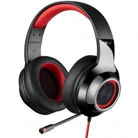 microfone fone de ouvido headphone gamer edifier g4 preto vermelho