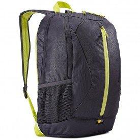 lado mochila case logic ibira para notebook 15 4 ibir115 preto verde