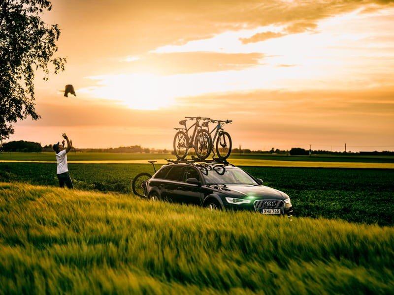 Suportes de bicicleta para teto