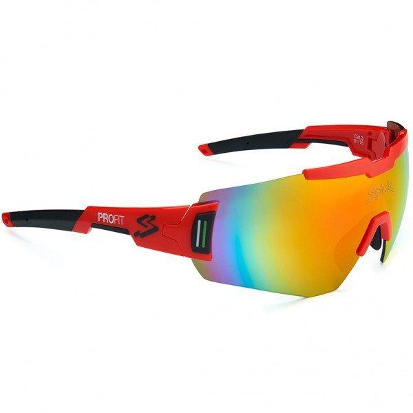 oculos para ciclismo spiuk profit lente vermelha espelhada