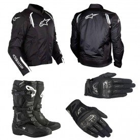 kit equipamentos para moto alpinestars ast air smx 2 air carbon v2 tech 3