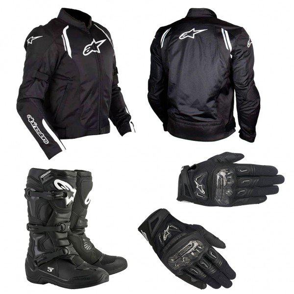 kit equipamentos para moto alpinestars ast air smx 2 air carbon v2 tech 3