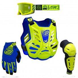 kit protecao para motocross asw amarelo