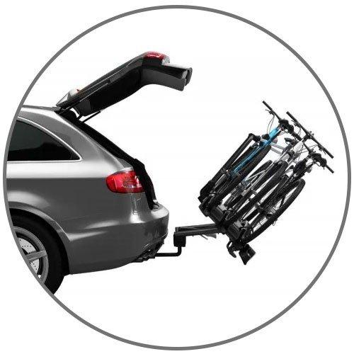 Suporte para colocar no carro para at 3 bicicletas