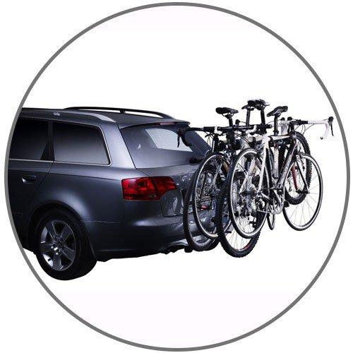 Suporte para bicicleta que permite acesso ao porta malas