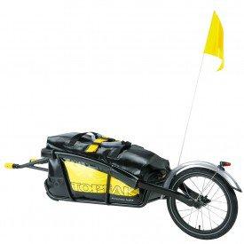 reboque traseiro p bicicleta topeak journey com bolsa drybag