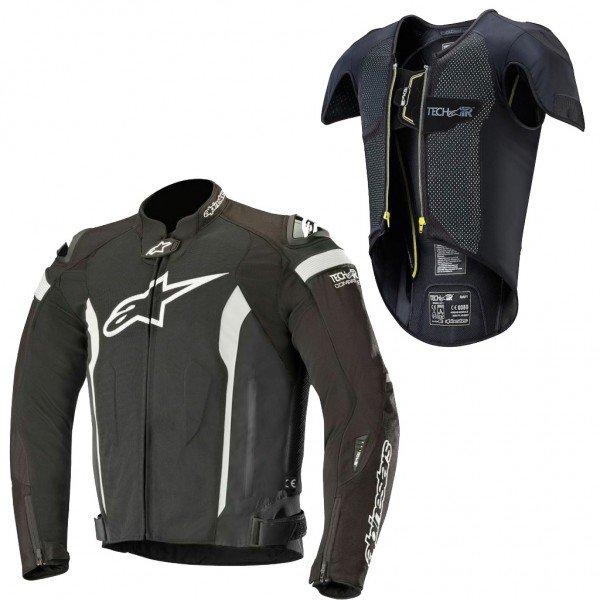 kit alpinestars jaqueta t missile e colete tech air preto