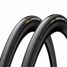 pneu para bicicleta continental tubular attack force 28 x 2224