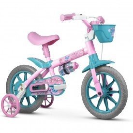 bicicleta infantil nathor charm feminina