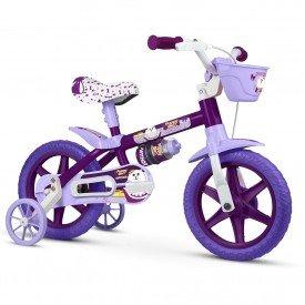 bicicleta infantil nathor puppy feminina