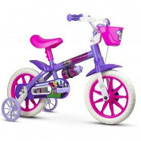 bicicleta infantil nathor violet feminina
