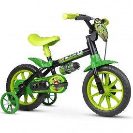 bicicleta infantil nathor black 12 masculina