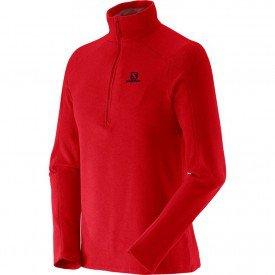 blusa salomon polar 1 2 zip masculina