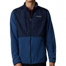jaqueta fleece columbia basin butte full zip masculina azul 04