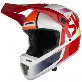 capacete para motocross asw bridge vermelho