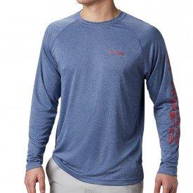camiseta ml masculina columbia terminal tackle heather 01