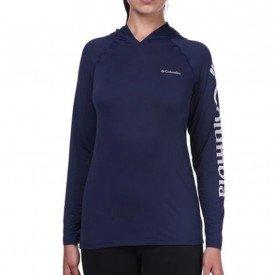 camiseta feminina ml columbia aurora com capuz