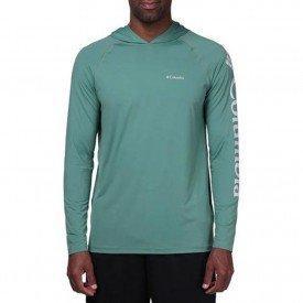 camiseta masculina ml columbia aurora com capuz